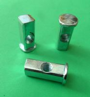 Square end/Block Nuts HEAVY DUTY Threaded M8. /Replacement/Fixing. Metal Beds/Bunks YZP & BLACK